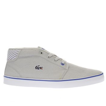 LACOSTE LIGHT GREY AMPTHILL BOYS YOUTH TRAINERS
