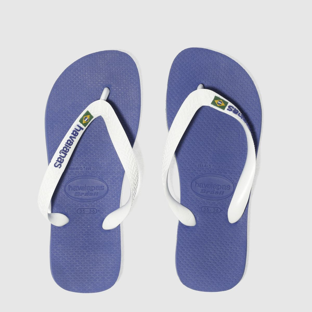 Havaianas Blue Brasil Logo Boys Youth Sandals