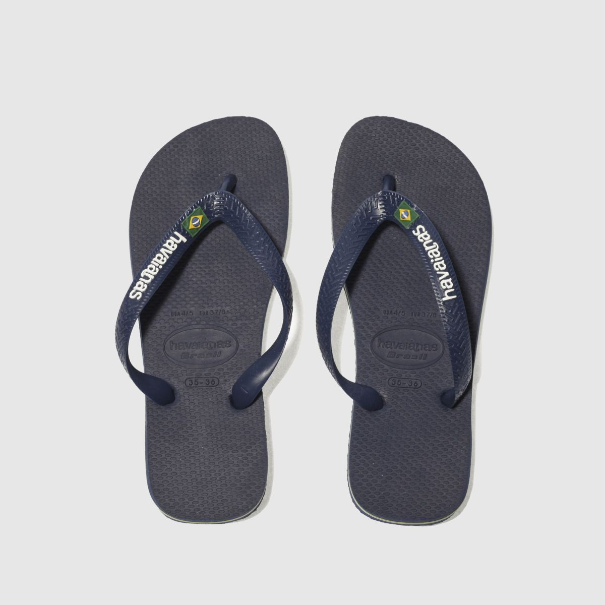Havaianas Navy Brasil Logo Boys Youth Sandals