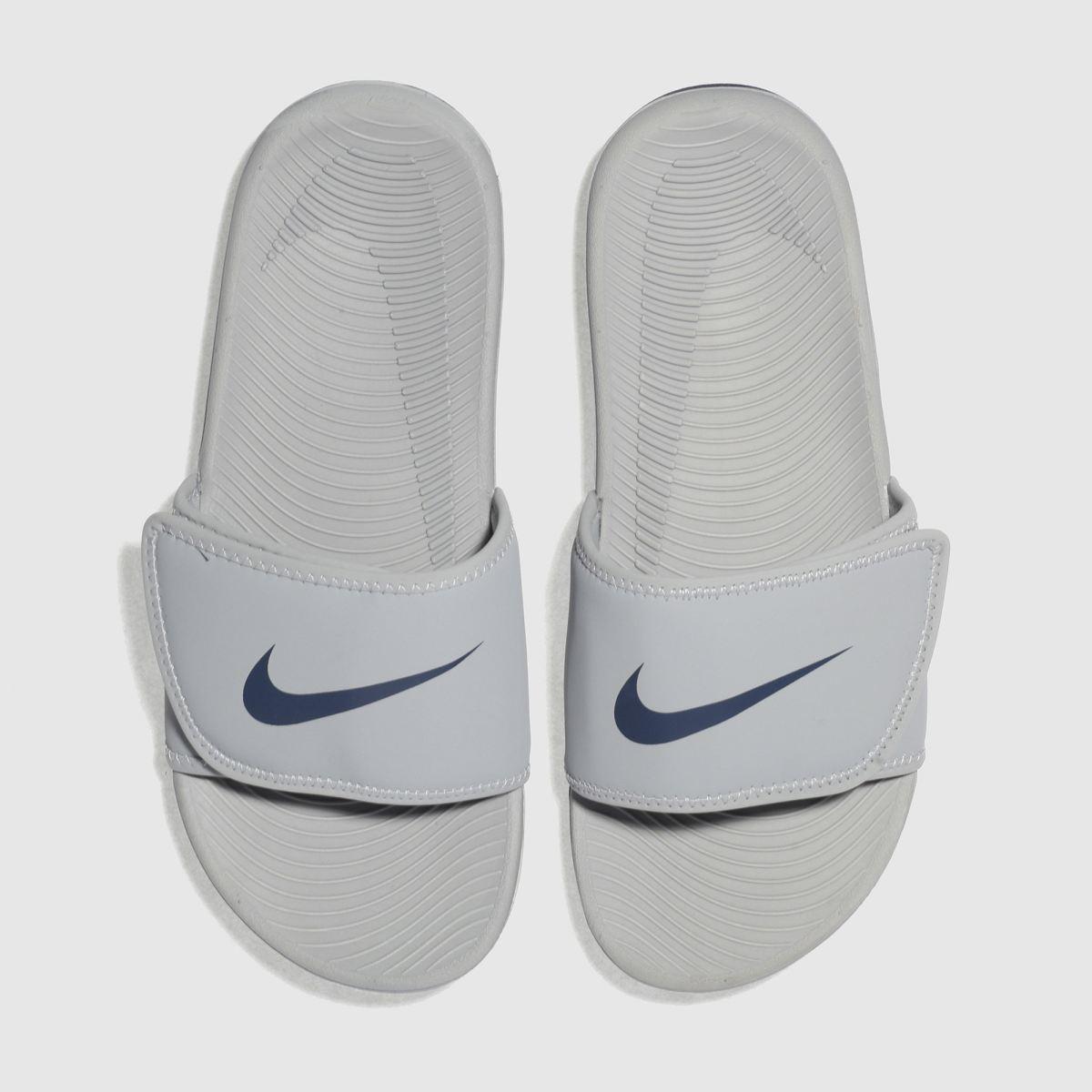 Nike Light Grey Kawa Adjust Trainers Youth
