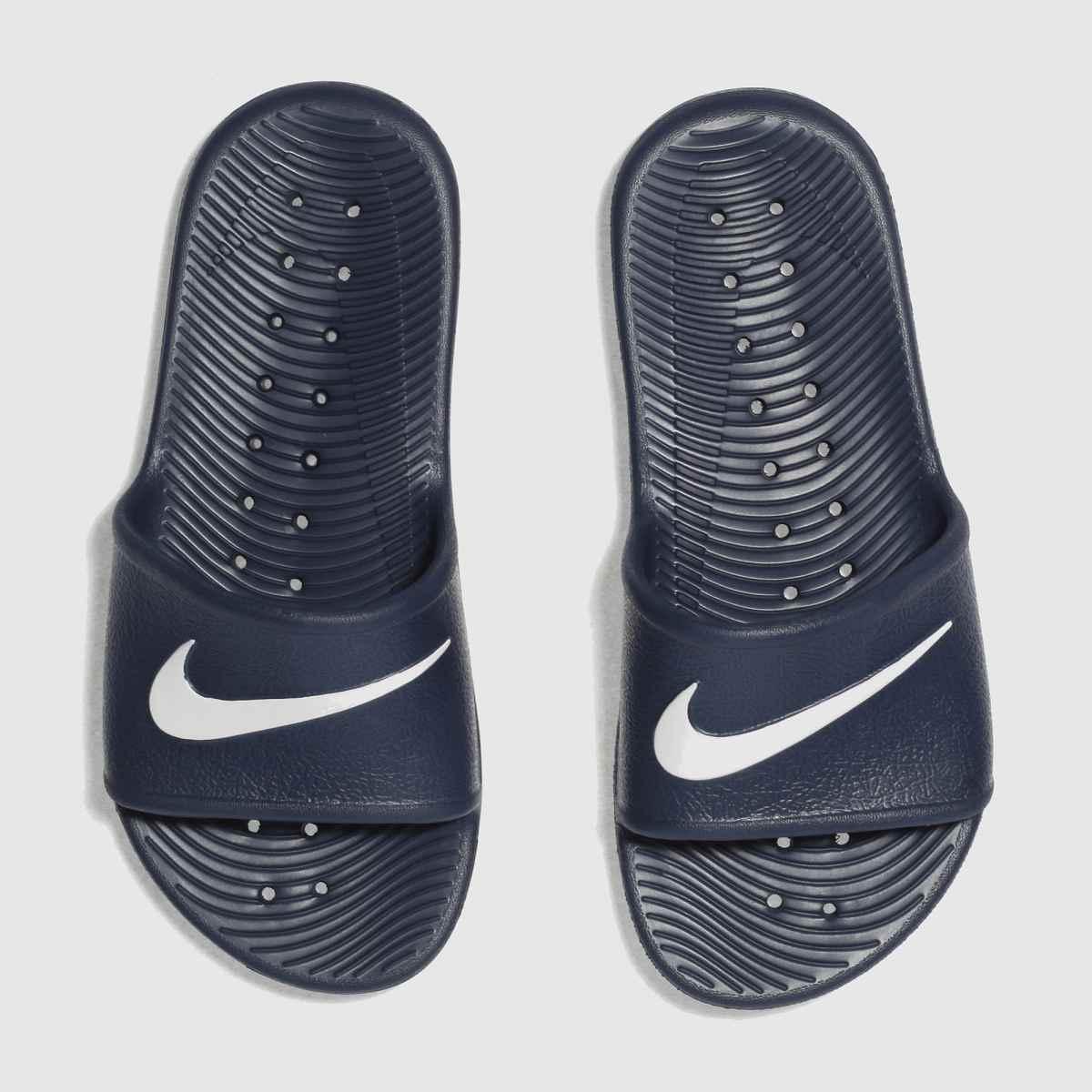 Nike Navy & White Kawa Shower Boys Youth Sandals