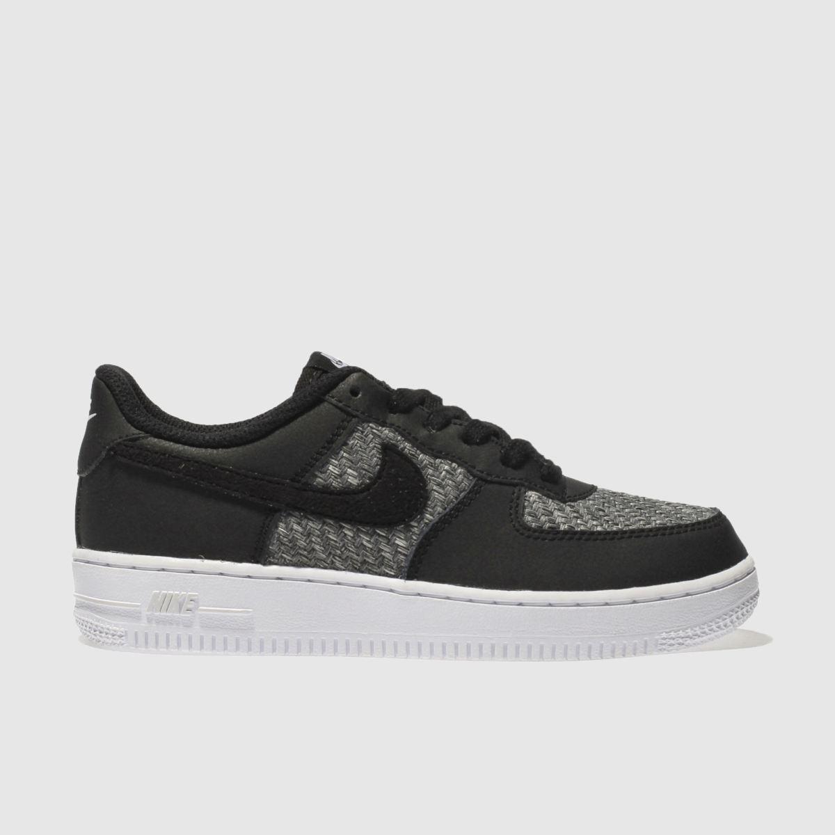 Nike Black & Grey Air Force 1 Boys Youth Youth