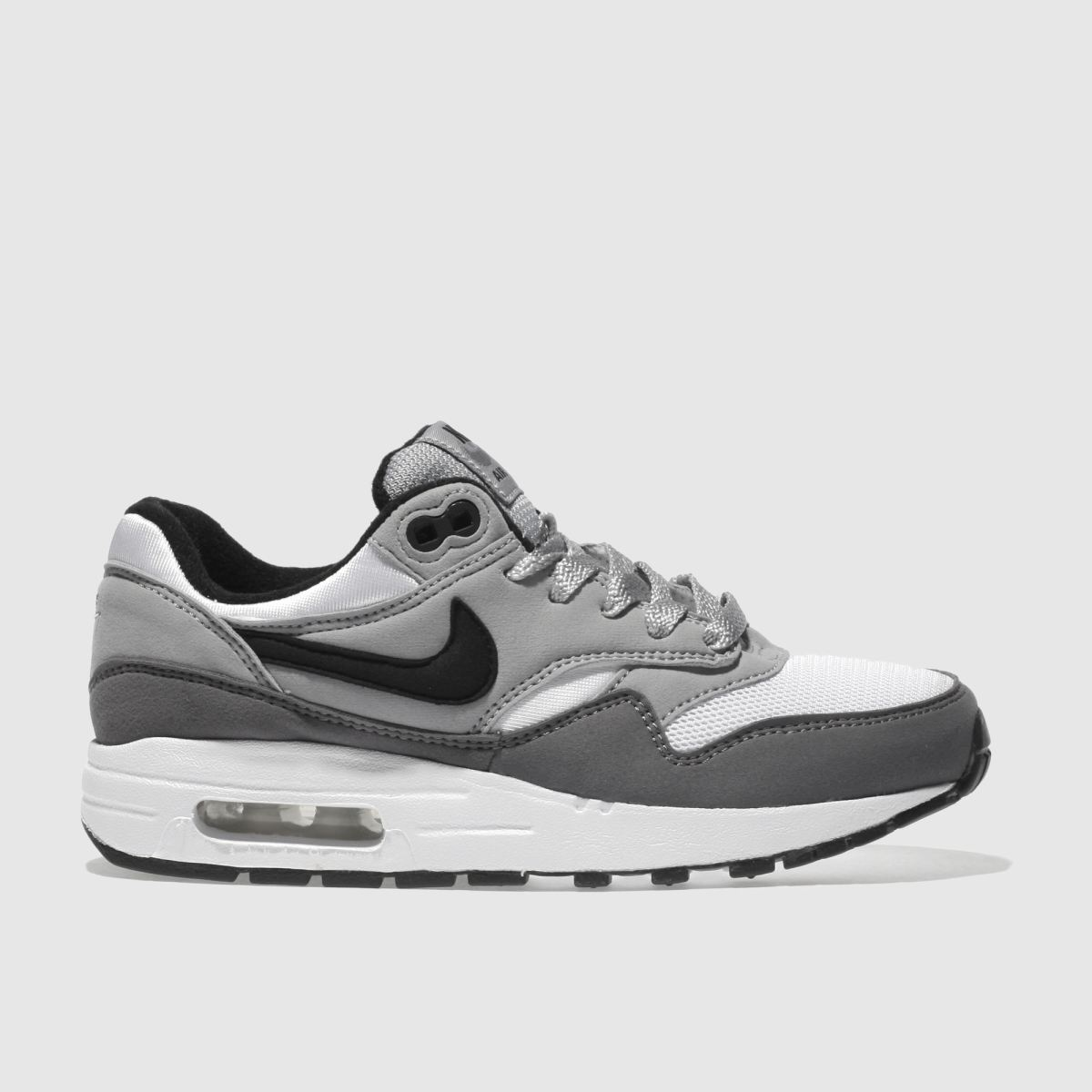 Nike Grey Air Max 1 Boys Youth Trainers