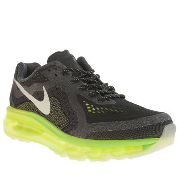 Nike Black & Green Air Max 2014 Boys Youth