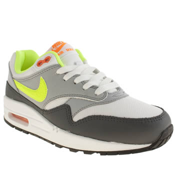 Nike White & grey Air Max 1 Boys Youth