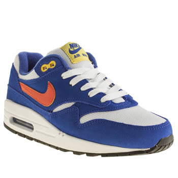 kids nike blue air max 1 trainers