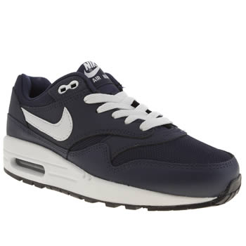 Nike Navy & White Air Max 1 Boys Youth
