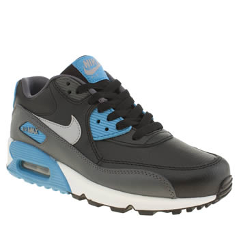 Nike Black and blue Air Max 90 Boys Youth