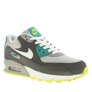 kids nike grey air max 90 trainers