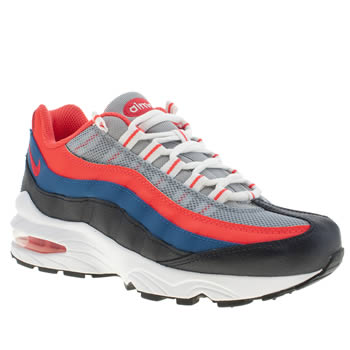 kids nike navy & red air max 95 trainers