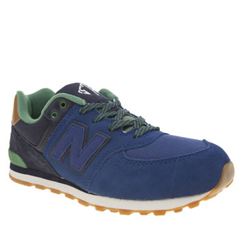 New Balance Navy & Green 574 New England Boys Youth
