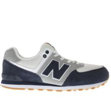 New Balance Navy & White 574 Boys Youth