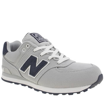 New Balance Light Grey 574 Polo Boys Youth
