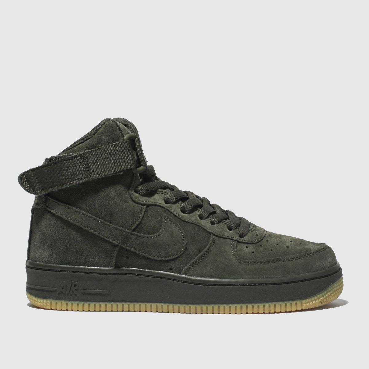 Nike Khaki Air Force 1 High Lv8 Trainers Youth