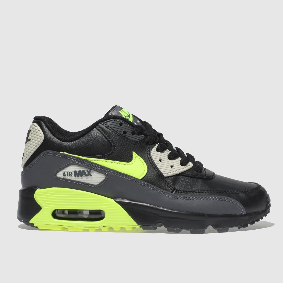Nike Black & Grey Air Max 90 Trainers Youth