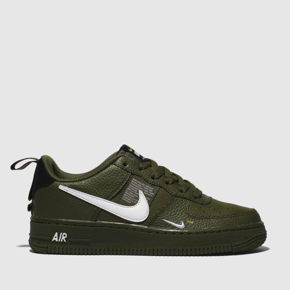 Nike Khaki Air Force 1 Lv8 Utility Trainers Youth