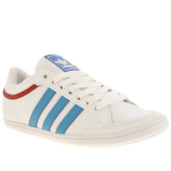 Adidas White & Blue Plimcana Low Boys Youth