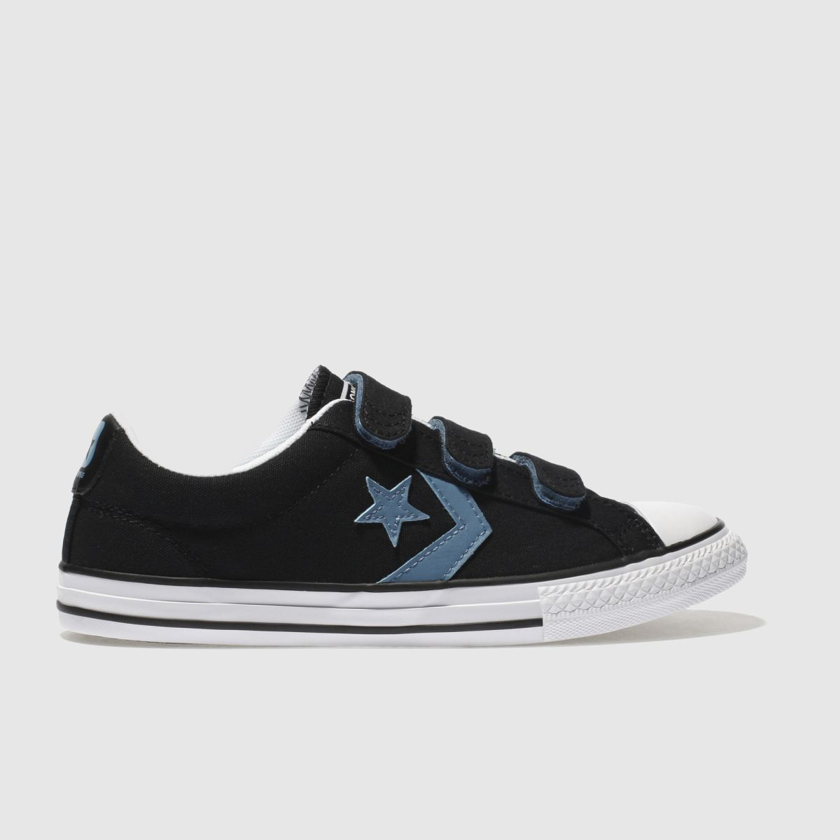 Converse Black And Blue Star Player Ox Trainers Youth