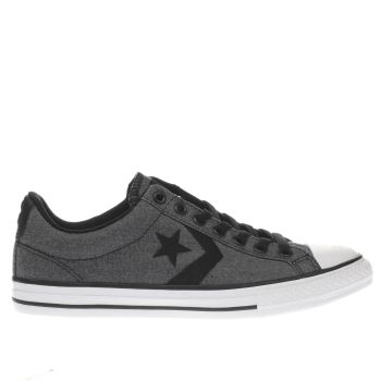 Converse Grey & Black Star Player Boys Youth