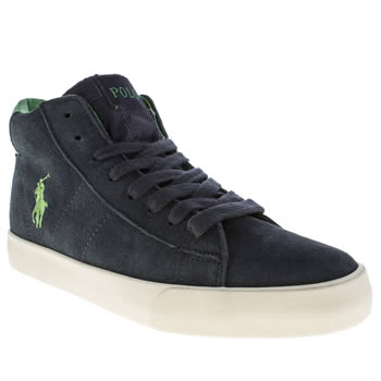 Polo Ralph Lauren Navy & Green Bronson Mid Boys Youth
