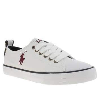 Polo Ralph Lauren White Falmuth Low Boys Youth