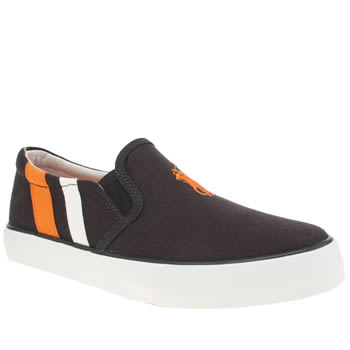 Polo Ralph Lauren Navy & Orange Seth Slip On Boys Youth