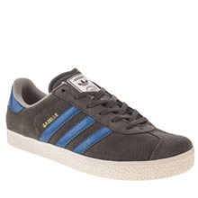 Youth Dark Grey Adidas Gazelle Ii