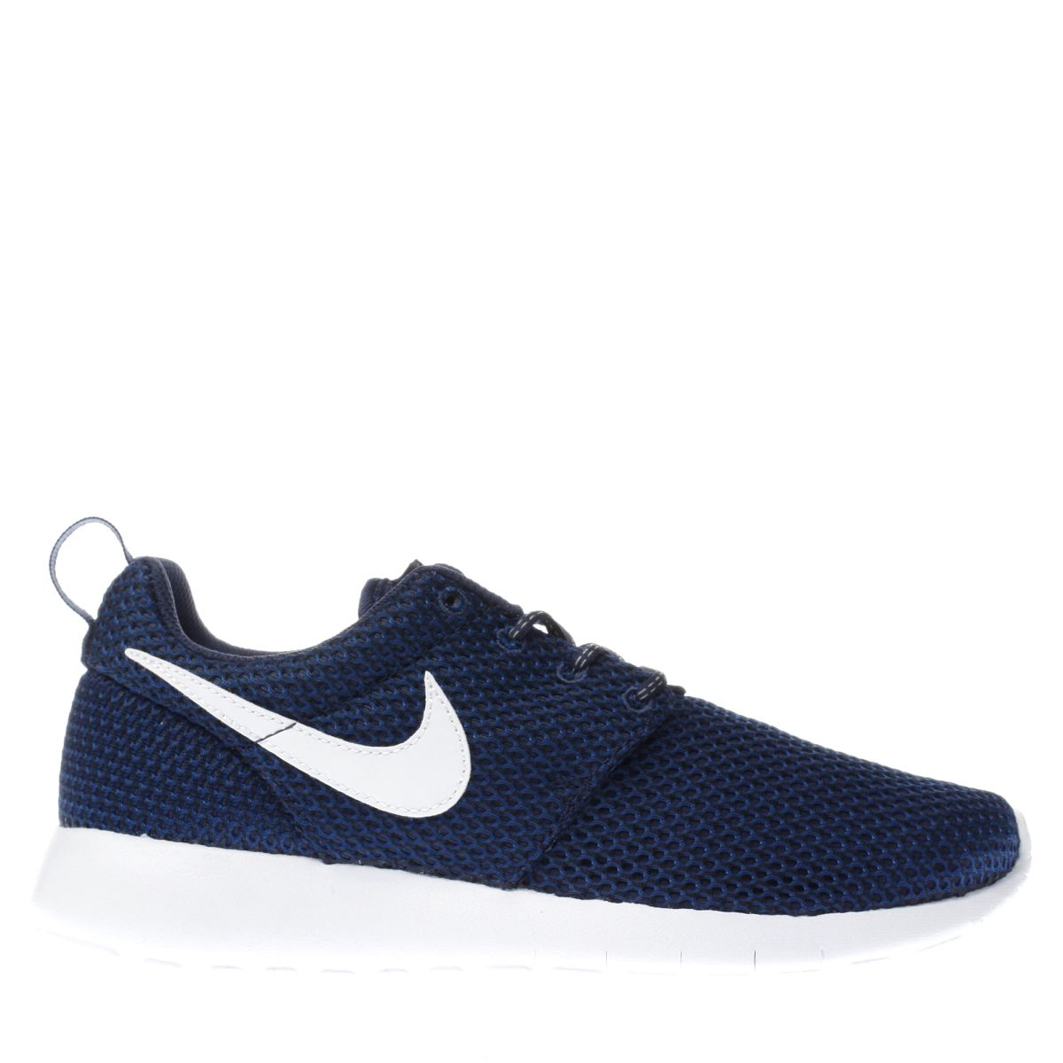 nike navy & white roshe one Boys Youth Trainers