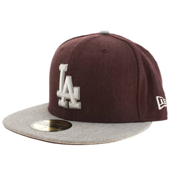 New Era Burgundy La Dodgers 59fifty Caps and Hats
