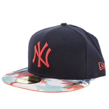 New Era Navy New York Navy Pattern 59fifty Caps and Hats