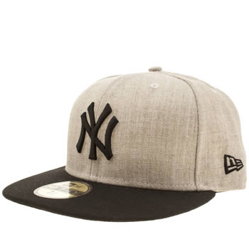 New Era Beige Ny Heather Contrast 59fifty Caps and Hats