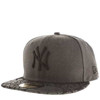 New Era Black & Grey Ny Visor Tropic 59fifty Caps and Hats