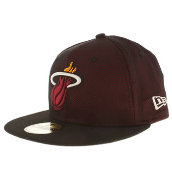 New Era Burgundy Miami Heat Mesh 59fifty Caps and Hats