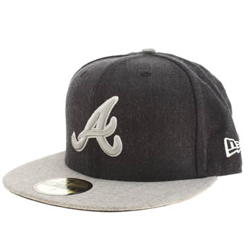 New Era Navy & Grey Atlanta Braves 59fifty Caps and Hats