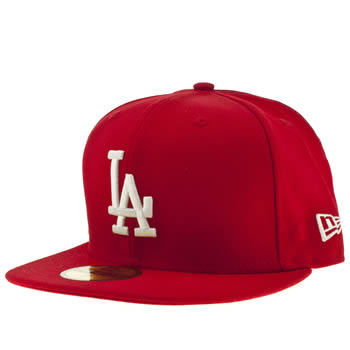 New Era Red La Dodgers 59fifty Cap Caps and Hats