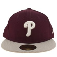 New Era Burgundy Phillies Diamond Era 59fifty Adults Hats
