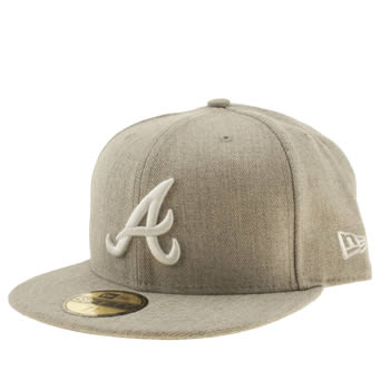 New Era Light Grey Atlanta Braves 59fifty Caps and Hats