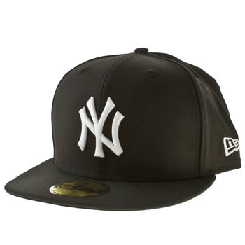 New Era Black & White Ny Yankees 59fifty Cap Caps and Hats