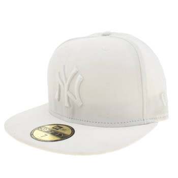 New Era White 59fifty Optic White On White Adults Hats