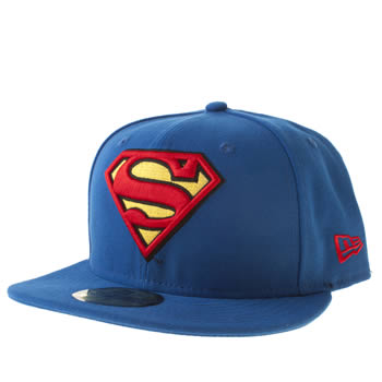 New Era Blue Superman 59fifty Caps and Hats