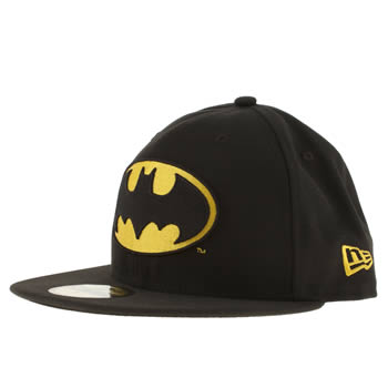 New Era Black Batman 59fifty Fitted Cap Caps and Hats