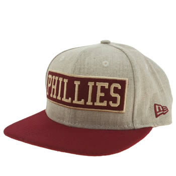 New Era Beige & Red Box Work Phillies 9fifty Caps and Hats