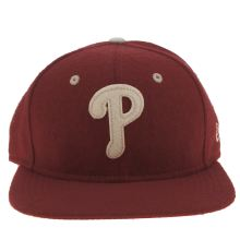 New Era Red Phillies Felt Wool 9fifty Caps and Hats