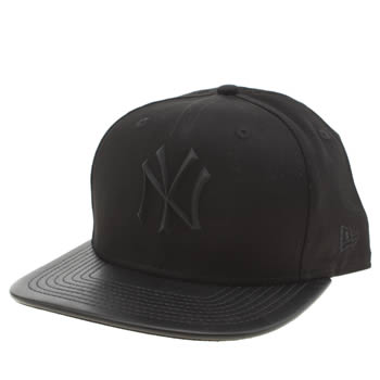 New Era Black Mlb Rubber Ny 9fifty Adults Hats