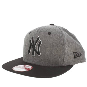 New Era Black & Grey Ny Palm Print 9fifty Caps and Hats