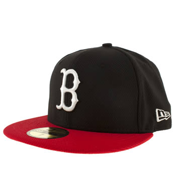 New Era Black & Red Boston Red Sox Diamond Caps and Hats
