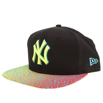 New Era Black & Yellow New York Sneakvize 9fifity Caps and Hats