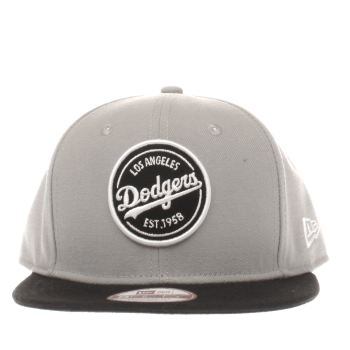 New Era Grey & Black 9fifty La Emblem Mlb Patch Caps and Hats