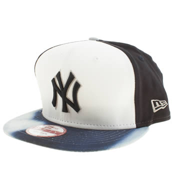 New Era White & Pl Blue New York Yankees Watercolour 9 Caps and Hats