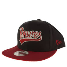 New Era Navy & Red Terry Word Atl Brave 9fifty Caps and Hats